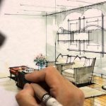 How to draw interior design?